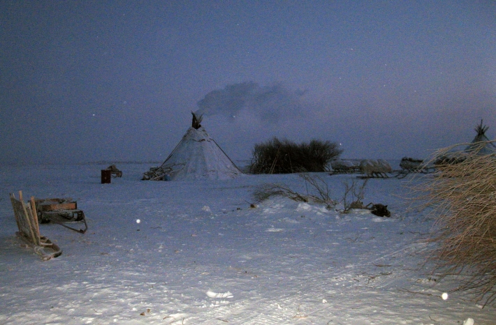 Чум в районе горы Пай-Ер