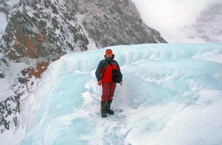 на ледопаде