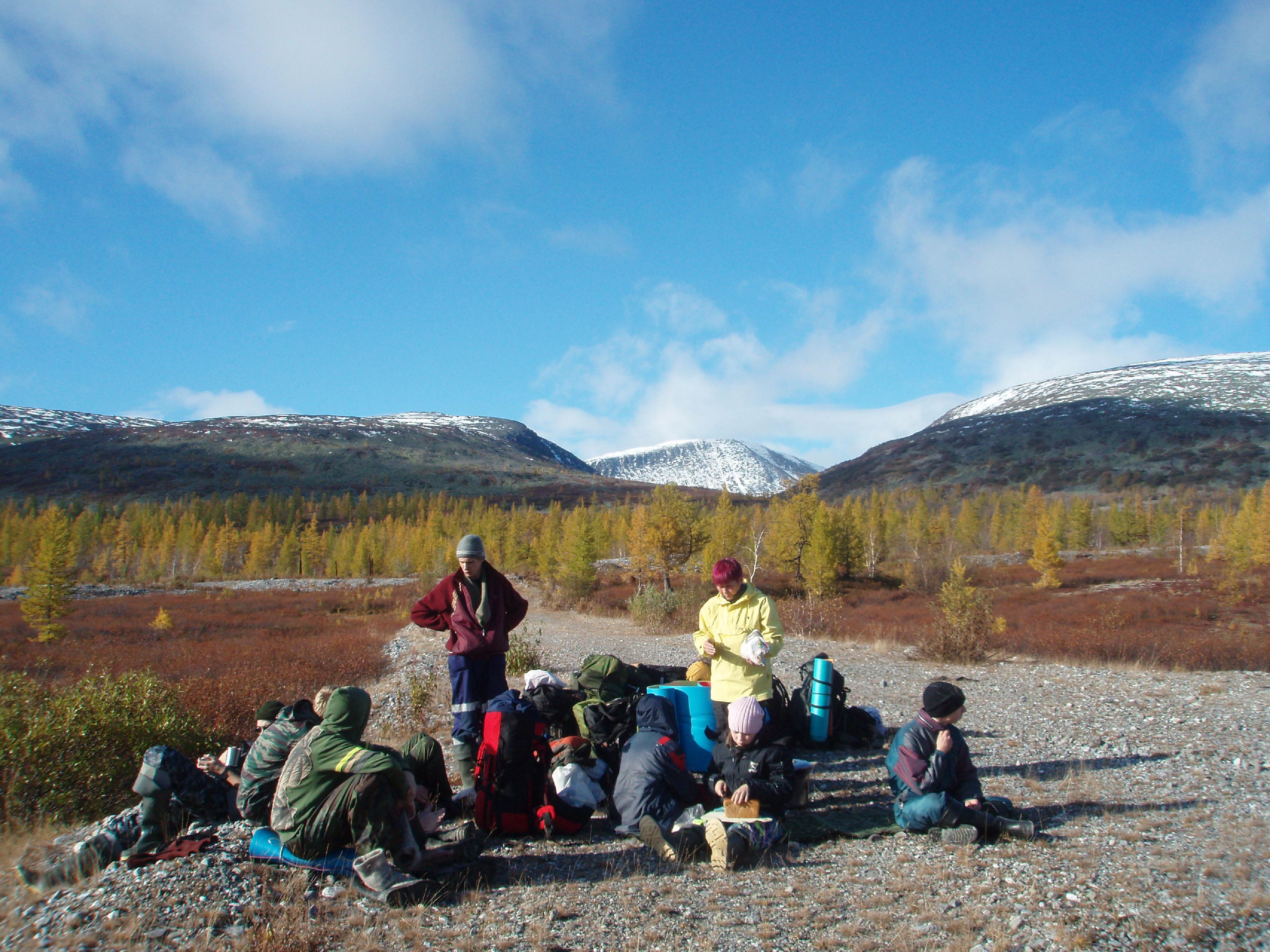 1 район: горы полярного урала; бывший поселок харбей