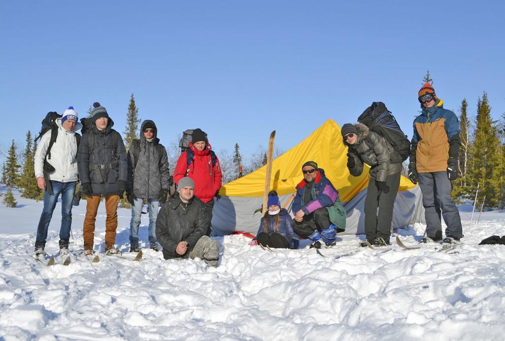 Установка зимней палатки