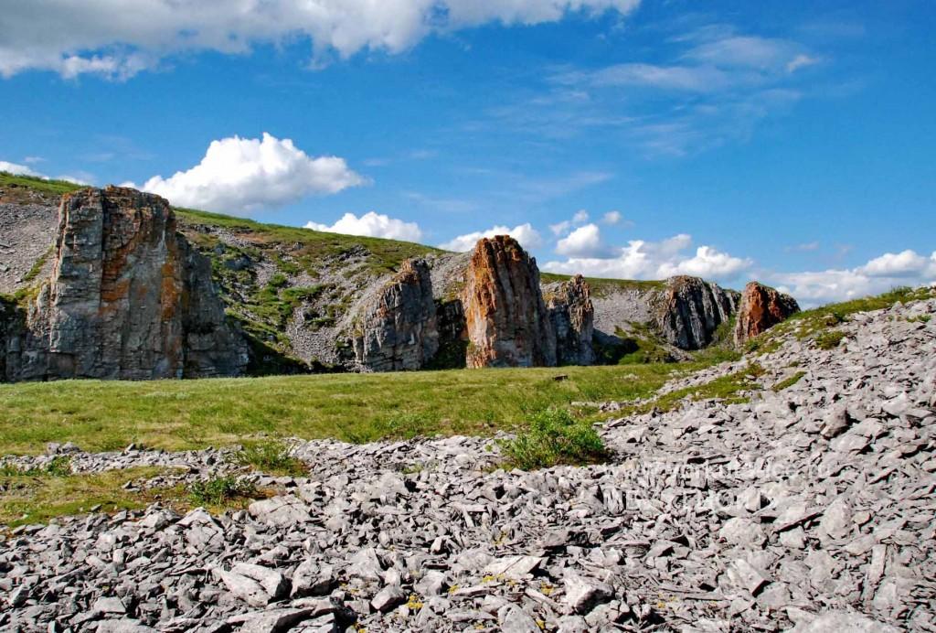 Скалы на ручье Камышор. Воркута.