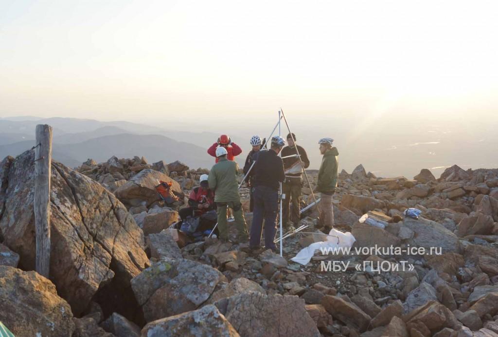 Туристы на вершине Пайера