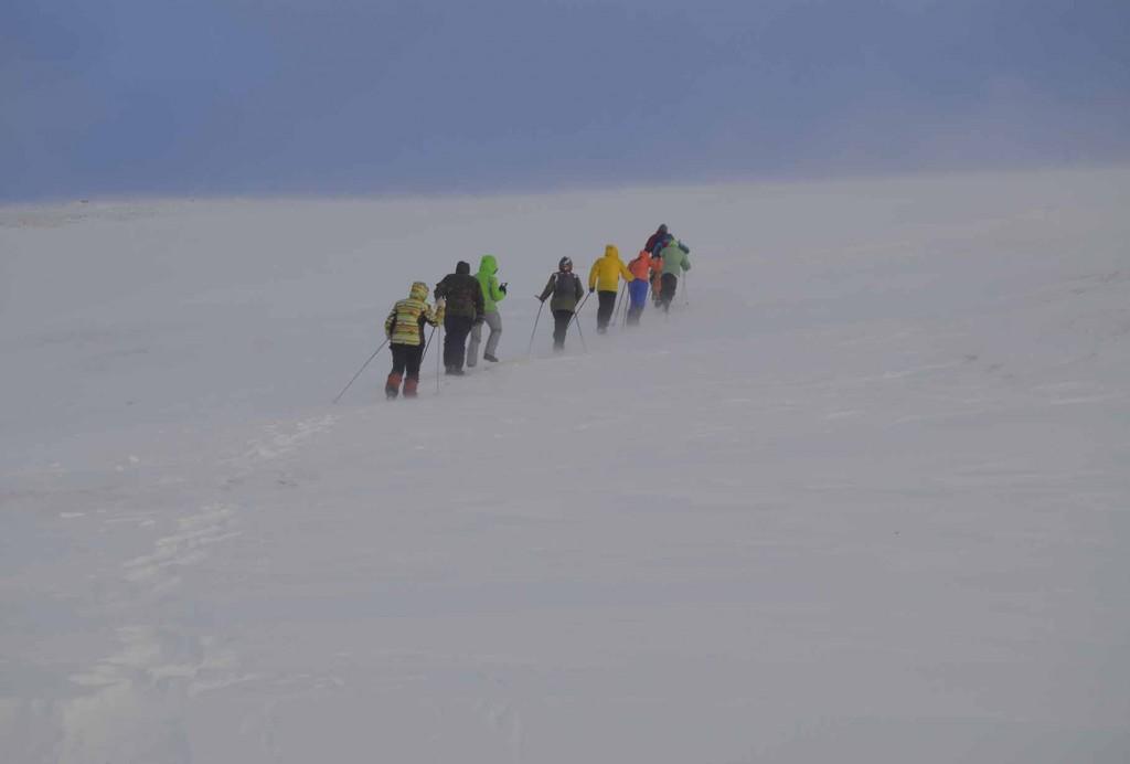 Подъём к высоте 580 м.