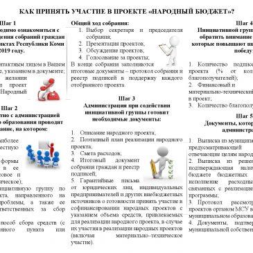 Памятка для населения по участию в проекте «Народный бюджет»